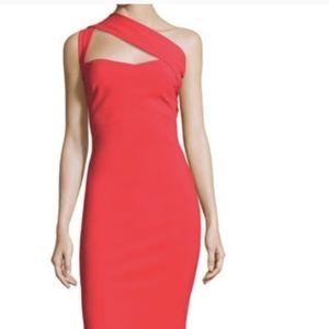 Red Chiara Boni La Petite Robe One-Shoulder Gown